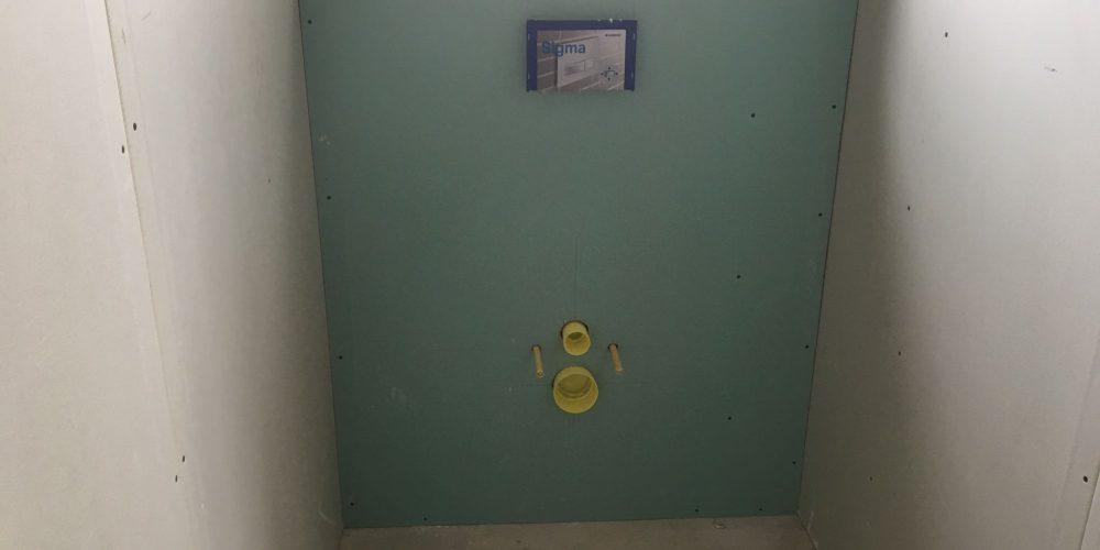 habillage wc suspendue